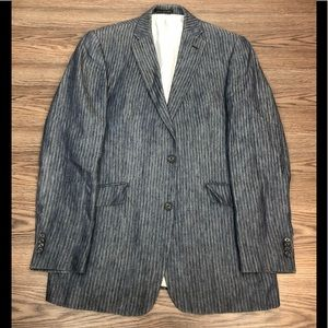 Gruppo Vestimenta Blue Stripe Linen Blazer 42L